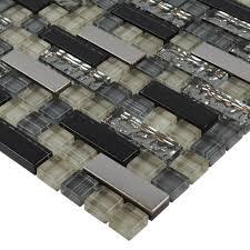 Glass Backsplash Tile Cheap by Metal And Glass Tile Backsplash Cheap Kitchen Crystal Mosaic Wall