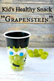 Healthy Halloween Candy Tips by Healthy Halloween Kid U0027s Snack Frankenstein Grape Cup Healthy