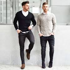 Black Jeans White Shirt Outfit Men