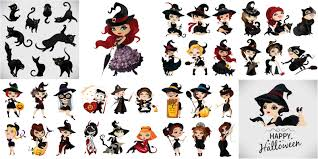 Characters For Halloween by Vintage Halloween Invitations Vector Free Download U2013 Vectorpicfree