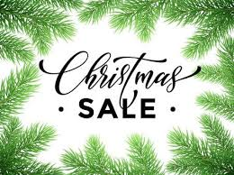 Promotion Discount Sale Poster With Christmas Tree Background New Year Store Banner Placard