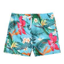 100 Coco Republic Sale Mens Leafy Board Shorts In Blue
