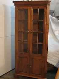 ethan allen lighted corner cabinet curio china cabinet china
