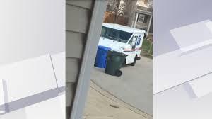 100 Usps Truck Tracker Video Shows Postal Worker Plowing Vehicle Into Garbage Bins