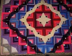 Boom Log Cabin crochet square Pattern
