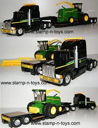 Snt Custom 0061 Peterbilt 359 W/Lowboy And Load | Stamp-n-Toys