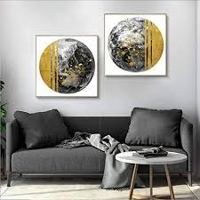 mhhsfn gold und grau symmetrie licht leinwand poster kunst