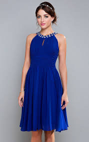 chiffon dress knee length blue chiffon cocktail promotion shop for