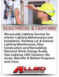 parking lot light bulb replacement services in il allied cpm