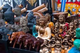 Download Balinese Market Souvenirs And Figurines Bali Indonesia Editorial Stock Image