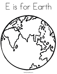 Coloring PageEarth Page Earth E Is For Png Ctok 20120227200300