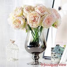 2018 Silk Peony Bouquet 5 Heads Artificial Fake Flower Bunch Bouquet