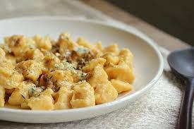 Pumpkin Gnocchi Recipe by Homemade Pumpkin Ricotta Gnocchi With Blue Cheese Brown Butter
