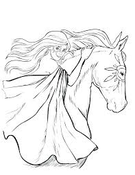 Realistic Horse Head Coloring Pages 2649240