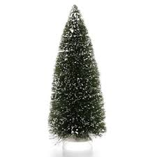 Bottle Brush Christmas Trees 12 Inch Green Sisal Tree With Snow