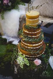 Naked Wedding Cake With Greenery By White Rose Design Cakes In West Yorkshire