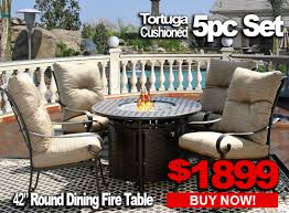 Patio Furniture Sale TORTUGA 5pc set with 42