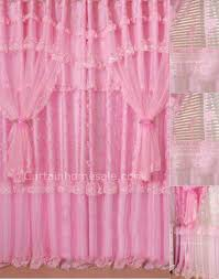 Pink Ruffled Window Curtains by History Of Styles Window Treatments L Essenziale Swags And Tails