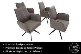novel kong stühle 4 drehstuhl sessel esszimmer armlehne