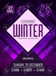 Dance Party Dj Battle Poster Design Winter Disco Music Event Flyer Or