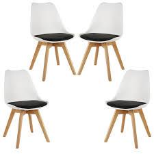 wyctin esszimmerstühle küchenstuhl 4 er set schwarz und weiß
