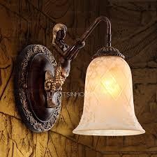 one light cognac fixture glass antique wall sconces