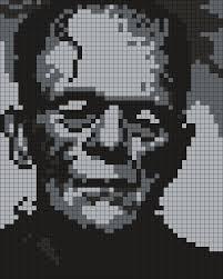 Halloween Perler Bead Projects by Boris Karloff As Frankenstein Square By Maninthebook On Kandi