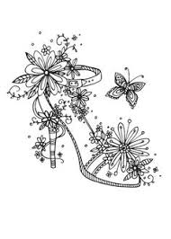 Adult Coloring Pages Butterfly Shoes Mas
