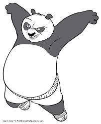 Angry Kung Fu Panda KFP Line Po 10 Color Online Print