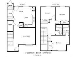 for the 3 Bedroom Townhome floor plan 3 Bed 2 Bath Apartment in Rockport TX