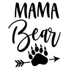 Mama Bear Paw Paws Silhouette Design And Silhouettes Rh Com Angry Clip Art SVG