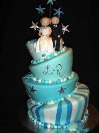 beautiful white and blue wedding cakes 3