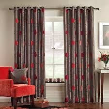 Primitive Living Room Curtains by Pemberley Red Eyelet Lined Curtains 60t300frsp 9451 4133 1485