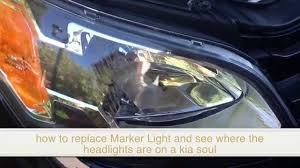 how to change replace bulb marker light in kia soul and see