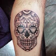 Mexican Sugar Skull Tattoo For Guys On Inner Forearm