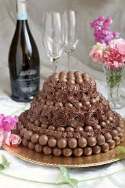 Maltesers chocolate buttermilk cake malted milk balls buttercream frosting
