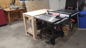 Sawstop Cabinet Saw Used by Bought A Sawstop Made An Outfeed Table I Used Jay Bates U0027 U0027shop