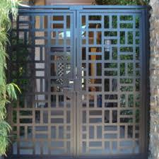 Buy a Handmade Contemporary Metal Dual Entry Gate Modern
