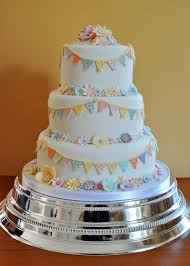Bunting Wedding Cake By Sylvania Cakes Exeter