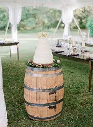 Rustic Wedding Ideas Wine Barrel In Place Of A Cake Table