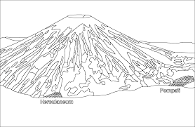 Download Coloring Pages Volcano Erupting Free Of
