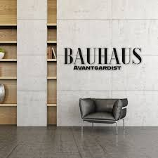 wooden letters in bauhaus style mdf black colored through font wood letters