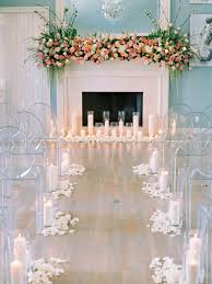 How Wide Should The Aisle Be Modern Indoor Wedding Altar