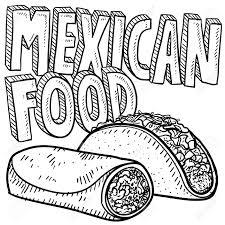 Drawn tacos spanish 6