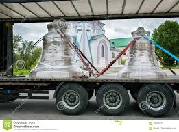 Church Bell Transport By The Truck Stock Photo - Image Of Chassis ...