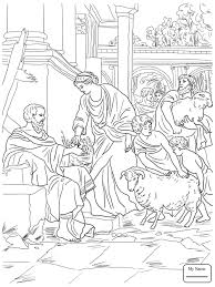 Job Story Christianity Bible Hearing Of His Ruin Coloring Pages