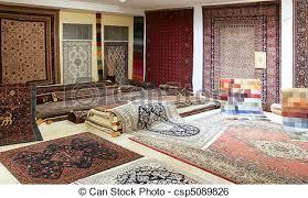 magasin de tapis magasin coloré exposition arabe moquette tapis image de