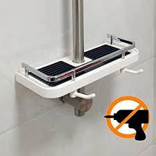 dltsli kunststoff dusche caddy regal badezimmer tablett rack badezimmer aufbewahrung halter ständer für seife shoo conditioner kein bohren an