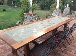 creative of slate top outdoor dining sets best ideas about tile