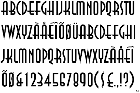 deco typography history fontscape home period deco 1920 1935 sans serif